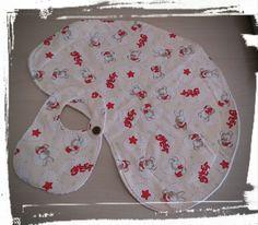 Bavaglino e tovaglietta ergonomica (Baby Burp Cloths and Bib) di Mennule su Etsy
