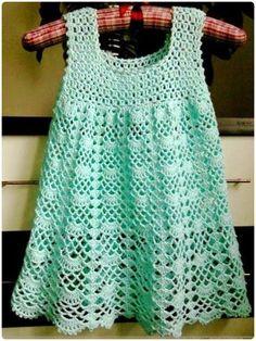 Crochet Beautiful Lace Dress Free Pattern - Crochet Girls Dress Free Patterns