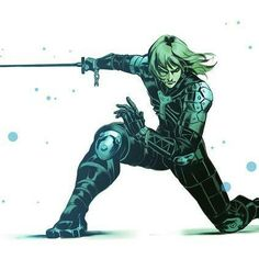 Raiden From Metal Gear Solid 2 after defeated Solidus Snake