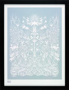 Sea Holly in Duck Egg Blue | A Bold & Noble screen print
