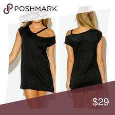 "LAST ONE / Ultimate Boyfriend Tunic Sexy tunic dress with cutout neckline. Absolute wardrobe essential all year long. Made of ultra soft stretchy jersey knit. 95% Rayon 5% Spandex  Model is 5'10"", bust 34"", waist 26"", hips 35"" - wearing a small H&H USA Tops"