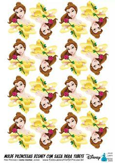 Risultati immagini per festa+bela+e+a+fera+cupcake Beauty And Beast Birthday, Beauty And The Beast Theme, Disney Beauty And The Beast, Beauty Beast, Princesa Disney Bella, Disney Princess Belle, Princess Cupcake Toppers, Princess Cupcakes, Disney Princess Birthday Party