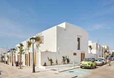 Exterior view. Social housing in Formentera. Climate Change Adaptation project funded by the European Union. Photograph by José Hevia