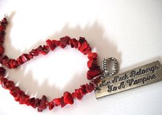 Vampire Lover Choker Necklace My Neck by TerriJeansAdornments,