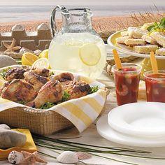 a beach picnic.
