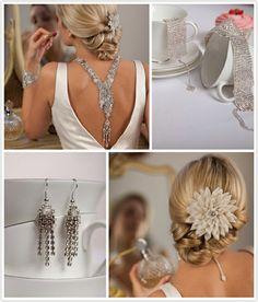 Beautiful wedding jewelry.