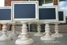 Mini chalkboard stands! So many creative uses for this.