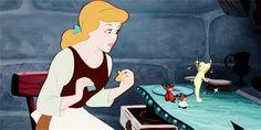 Tinker bell into Cinderella. Disney crossover