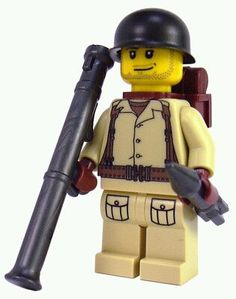 Lego soldier. This is how the kids see their Dad!