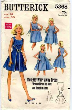A short version -  Butterick 4790, The Walkaway Dress From 1952