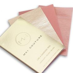 """The Insider: Freelance Beauty Writer Runa Bhattacharya .Mai Couture Glow-geous Trio, $24, maicouture.com. """"Blotting papers 2.0: these don't just soak up excess oil; they reapply makeup. For a fresh look mid-party, swipe the bronzer paper across your forehead, cheeks and jawline. Tap the blush paper on the apples of your cheeks. Then sweep the highlighting paper on cheekbones.""""   Photographer: Courtesy of Mai Couture"""