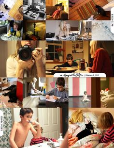 """ali edwards' """"A Day in the Life"""".  Collage made with a template from designer digitals // ali edwards"""