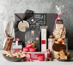 Sweet Treats gift box, gifts for women from Gourmet Basket Chocolate Basket, Chocolate Hampers, Chocolate Sweets, Chocolate Gifts, Wine Hampers, Gourmet Baskets, Wine Recipes, Sweet Treats, Bakery