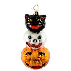 Radko SPOOKY SIDEKICKS 1015060 Ornament Halloween Black Cat Jo New