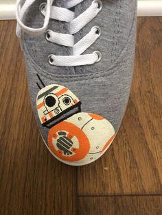 BB-8 Shoes by JennysPaintedKicks on Etsy