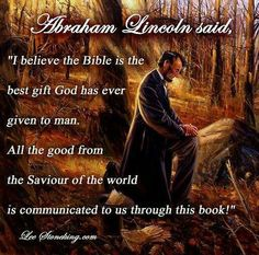 Abraham Lincoln quote about The Bible