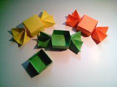 Como hacer una caja caramelo de papel (sin pegamento)