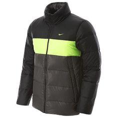 NEW Mens NIKE Gray Black 550 Puffer Winter Jacket Coat Sz.XL