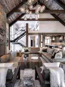 Incredible mountain modern dwelling offers slope-side living in Montana Modern Rustic Decor, Modern Rustic Homes, Modern Rustic Interiors, Modern Interior Design, Modern Mountain Home, Mountain House Plans, Mountain Homes, Rustic Bedroom Design, Country Interior