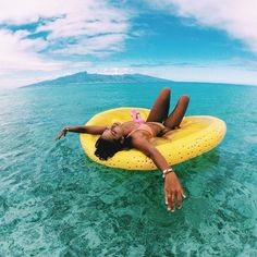 The perfect summer time toy!! Endlessly floating in tropical island waters. you.theworld.wandering