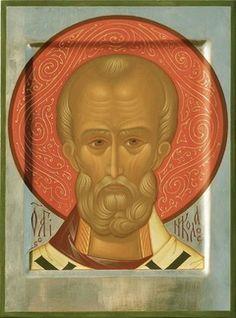 St Nicholas The Wonder Worker icon, by Anna Kudryavtseva Santa Pictures, Church Interior, Byzantine Icons, Saint Nicholas, Orthodox Icons, Green Backgrounds, Portrait Art, Christianity, Saints