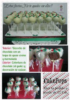 Christmas cake pops / Cakepops Navideños - D'Kika Tartas