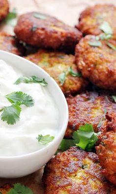 Curried Cauliflower Fritters #recipe