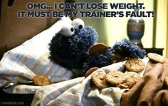 cant lose weight funny quotes tv quote tv shows funny quote funny sayings sesame street cookie monster funn quotes humor humorous quote