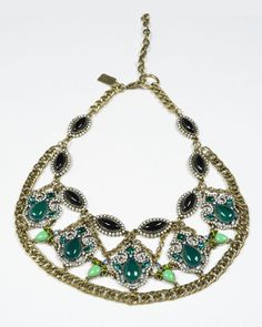 Multi-Stone Bib Necklace || Badgley Mischka statement pieces