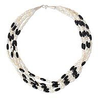 Cultured pearl strand necklace, 'Chiang Rai Melody' by NOVICA