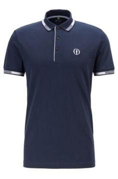 Discover contemporary and classic looks with the polo shirts for men in the official HUGO BOSS online store. Secure these and more now - no shipping fees! Black Polo Shirt, Blue Polo Shirts, Polo T Shirts, Polo Shirt Outfits, Polo Shirt Design, Dress For Success, Mens Tees, Hugo Boss, Vintage Men
