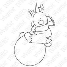 reindeer,bauble,christmas,digital stamp,holiday,ornament