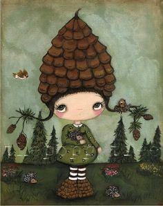 Pine Comb Print---Prickly