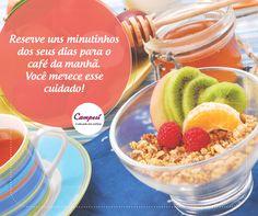 Muitas vezes deixada de lado, esta é uma das refeições mais importantes do dia! Aproveite para comer muitas frutas e fibras. Qual seria o seu café da manhã perfeito?