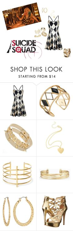 """Harley Quinn:Club Scene"" by haxan ❤ liked on Polyvore featuring Rebecca Minkoff, BauXo, Stella & Dot, Fragments and GUESS"