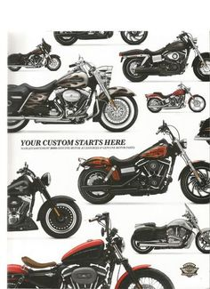 LN Harley Davidson Your Custom Starts Here 2010 Genuine Motorcycle Parts Catalog