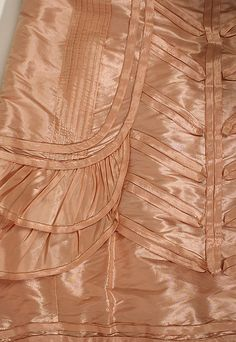 Detail of piping and tucks, surface decoration. Silk evening dress, Jeanne Hallée (French, 1880–1914), ca. 1892.