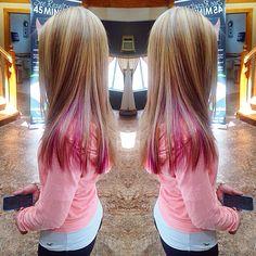 40 ideas of peek a boo highlights for any hair color hair coloring blonde pink highlight lowlight longhair peekaboo solutioingenieria Images