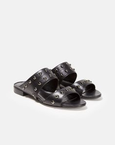 b88976345dd Hani Studded Flat Slide Sandal