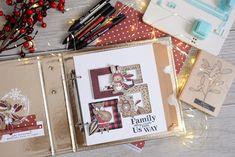 Mini Albums Scrap, December Daily, Memory Books, Tampons, Scrapbook Albums, Paper, Instagram, Minis, Journal