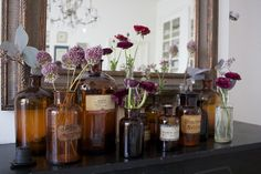 LOVE these old apothecary/ chemist jars