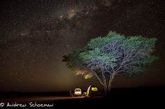 Starry Skies by Andrew Schoeman. This is something I'd love to do - actually sleep outside under open skies in some place like Africa or other wild places still. If a person wants to stay at luxury hotel or resort for a holiday, why the need to travel? Do it near home.