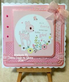 Made by Sharon King - Using Hunkydory Babies Little Book. 7 x 7 card base. Make And Sell, How To Make, Little Books, Baby Cards, New Baby Products, Projects To Try, Card Making, Baby Boy, Frame