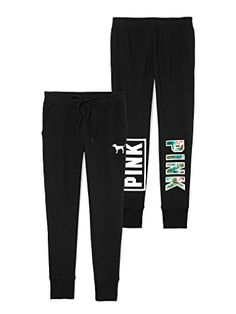 Victorias Secret PINK Skinny Collegiate Pant M Black Tropical *** Find out more about the great product at the image link.