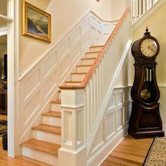 4 Fabulous Tips: Modern Wainscoting Foyer wainscoting stairway stair redo.Wainscoting Board And Batten Floors wainscoting panels frames. Black Wainscoting, Wainscoting Kitchen, Painted Wainscoting, Dining Room Wainscoting, Wainscoting Panels, Wainscoting Ideas, Wainscoting Nursery, Wainscoting Height, Stairway Wainscoting