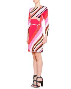 Printed Drop-Waist Dress with Belt