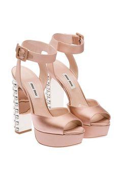 Miu Miu e-store · Shoes · Sandals · Sandals Miu Miu Sandals, Nude Shoes, Shoes Sandals, Sandals Platform, Cl Fashion, Fashion Shoes, Botines Louis Vuitton, Sock Shoes, Designer Shoes