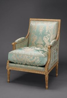 Bergere (Armchair), by Jean-Baptiste-Claude-Sene, French, MFA, Boston Custom Made Furniture, French Furniture, Classic Furniture, Home Decor Furniture, Luxury Furniture, Antique Furniture, Painted Furniture, Furniture Design, Sofas