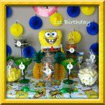 Sponge Bob Candy Buffet Chocolate Centerpieces, Sponge Bob, Candy Buffet, Party Ideas, Photo And Video, Instagram, Spongebob, Candy Stations, Ideas Party