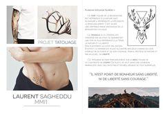 "Planche projet ""Tatouage"" #tatouage #cerf #photoshop #illustrator"